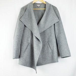 J.Jill Wool Angora Grey Wrap Jacket